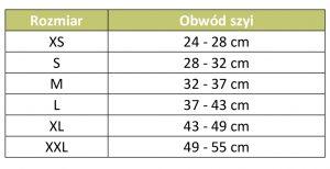Tabela rozmiarow obroza