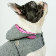 Quilted Dog Hoodie Pink 2