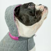 Quilted Dog Hoodie Pink
